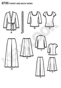 New Look 6735 sewing pattern