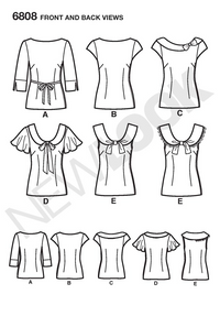 New Look 6808 sewing pattern