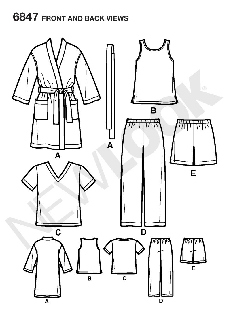 New Look 6847 sewing pattern