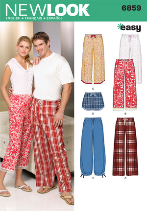 NL6859 Misses', Men's, and teens Pyjama's | Easy from Jaycotts Sewing Supplies