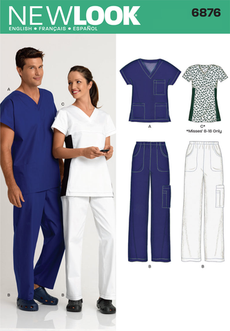 New Look 6876 sewing pattern