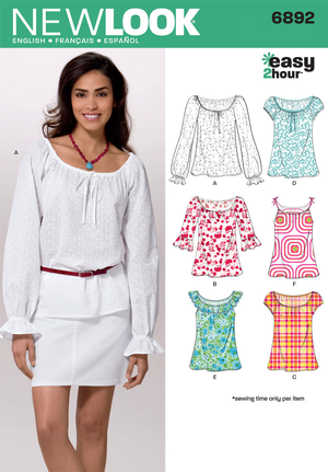 New Look 6892 Sewing Pattern