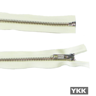 YKK Open End Zip Silver Teeth - Ivory