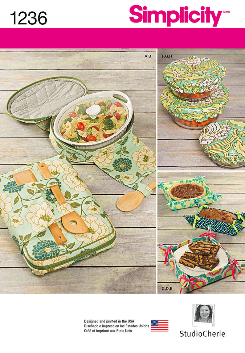 Simplicity Pattern 1236 Casserole Carriers, Gifting Baskets & Bowl Covers from Jaycotts Sewing Supplies