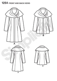 Simplicity Pattern 1254 Misses' Leanne Marshall Easy Lined Coat or Jacket