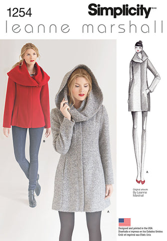 S1254 Misses' Leanne Marshall Easy Lined Coat or Jacket