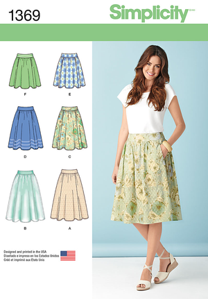Simplicity Pattern 1369 Misses' Skirts in 3 Lengths from Jaycotts Sewing Supplies