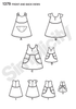 "S1379 Child's Dress & Dress for 18"" Doll"