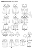 S1450 Toddlers' Dress, Top, Panties & Hat