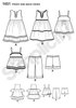 S1451 Toddlers' Dresses, Top, Cropped Pants & Shorts