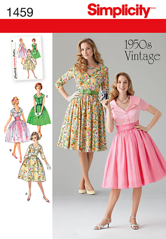 S1459 Misses' & Miss Petite 1950's Vintage Dress