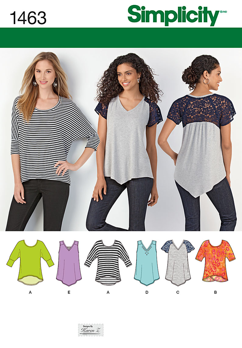 S1463 Misses' Knit Tops