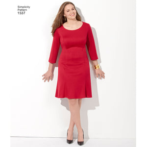 Simplicity Pattern 1537 Misses' & Plus Size dress in 3 lengths