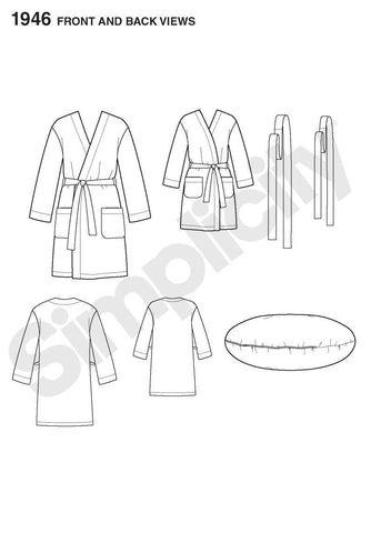 S1946 Robe - Child's Teen's & Adults' | Learn to Sew