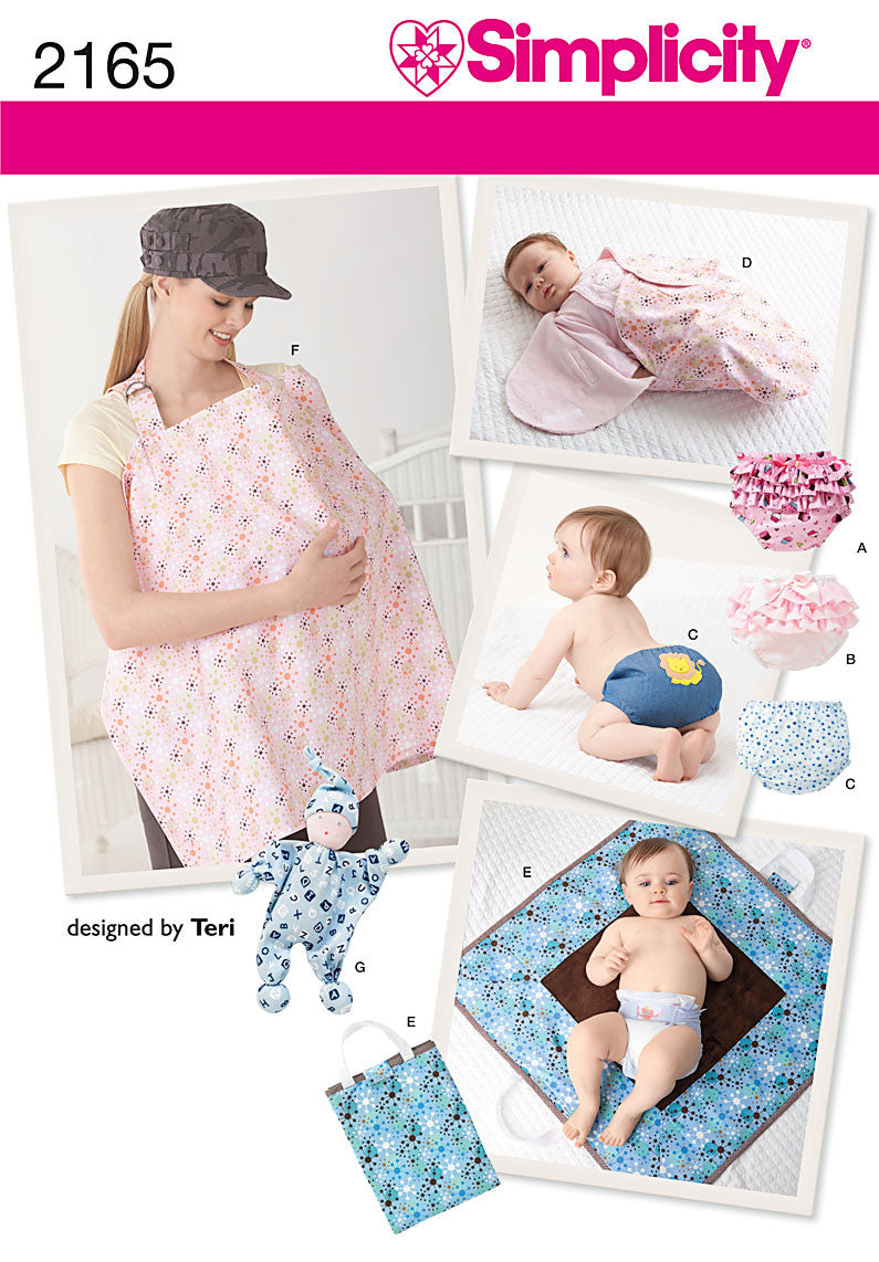 Simplicity Pattern 2165 Baby Accessories | designed by Teri from Jaycotts Sewing Supplies