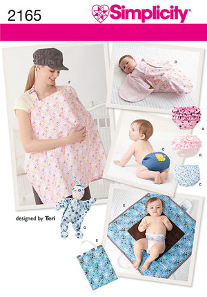 Simplicity Pattern 2165 Baby Accessories | designed by Teri