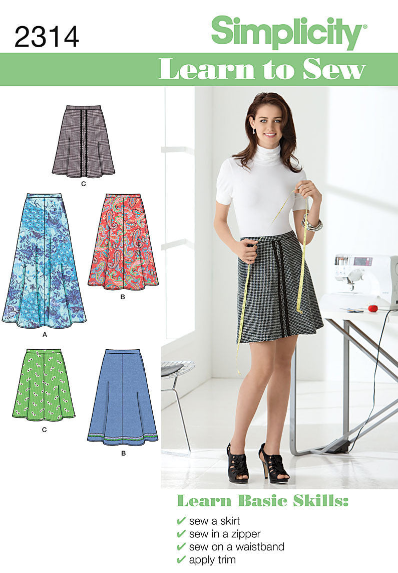 S2314 Misses' Skirts | Learn to Sew