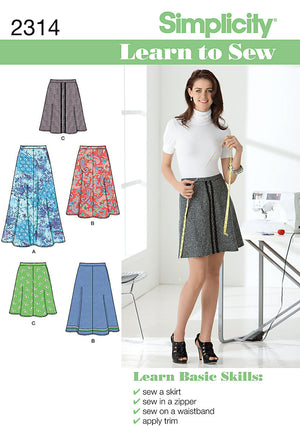 Simplicity Pattern 2314 Misses' Skirts | Learn to Sew