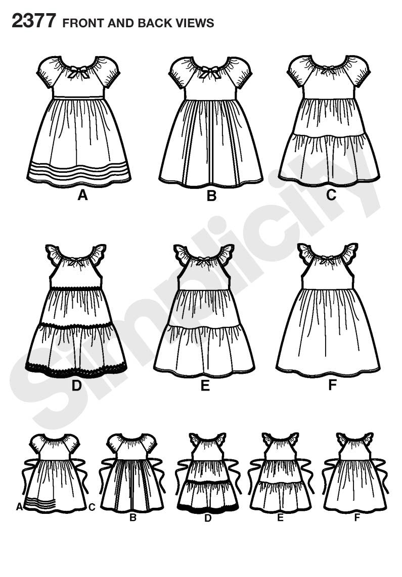 S2377 Child's Dresses | Easy to Sew