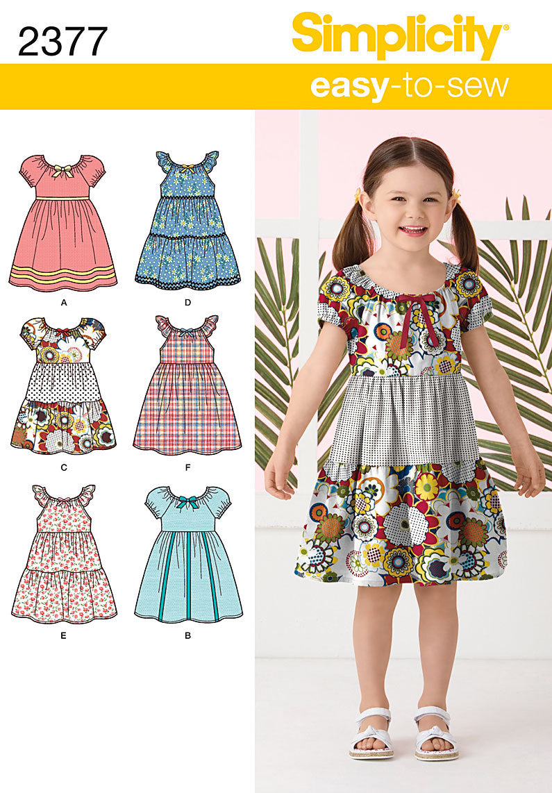 Simplicity Pattern 2377 Child's Dresses | Easy to Sew from Jaycotts Sewing Supplies