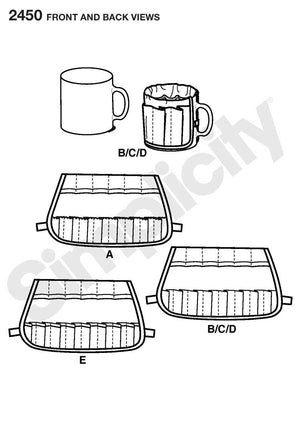Simplicity Pattern 2450 Mug Covers