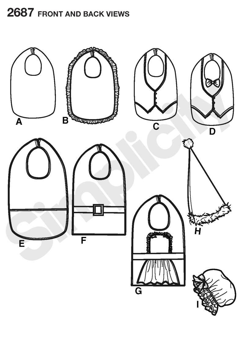 Simplicity Pattern 2687 Adult Clothing Protectors & Hats from Jaycotts Sewing Supplies
