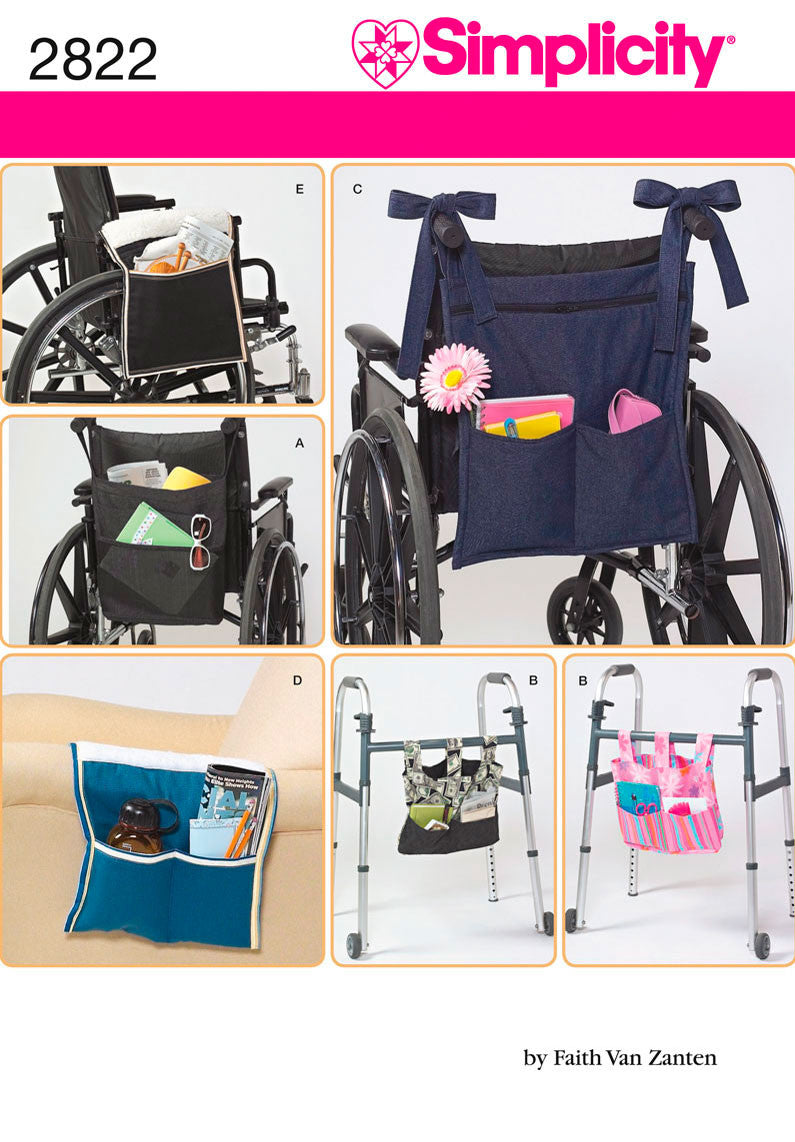 Simplicity Pattern 2822 Wheelchair Accessories from Jaycotts Sewing Supplies