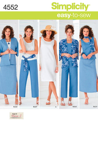S4552 Misses' & Plus Size Smart and Casual Wear | Easy to Sew