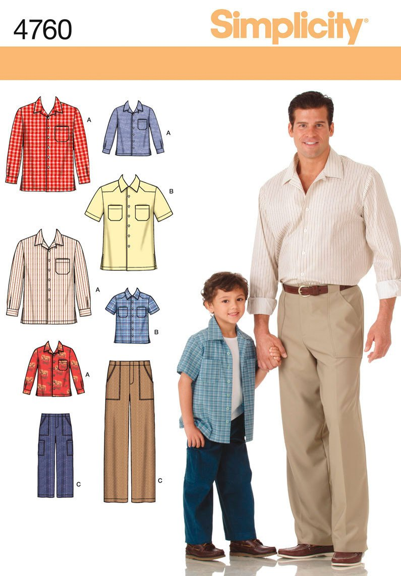 S4760 Boys & Men Shirts & Pants