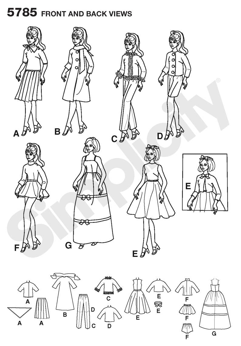 S5785 Doll Clothes | 1960's