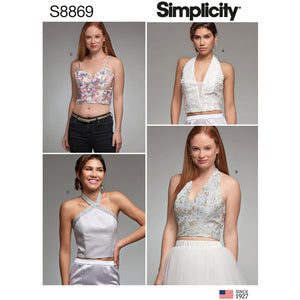 Simplicity Pattern 8869 Misses' Lined Tops from Jaycotts Sewing Supplies