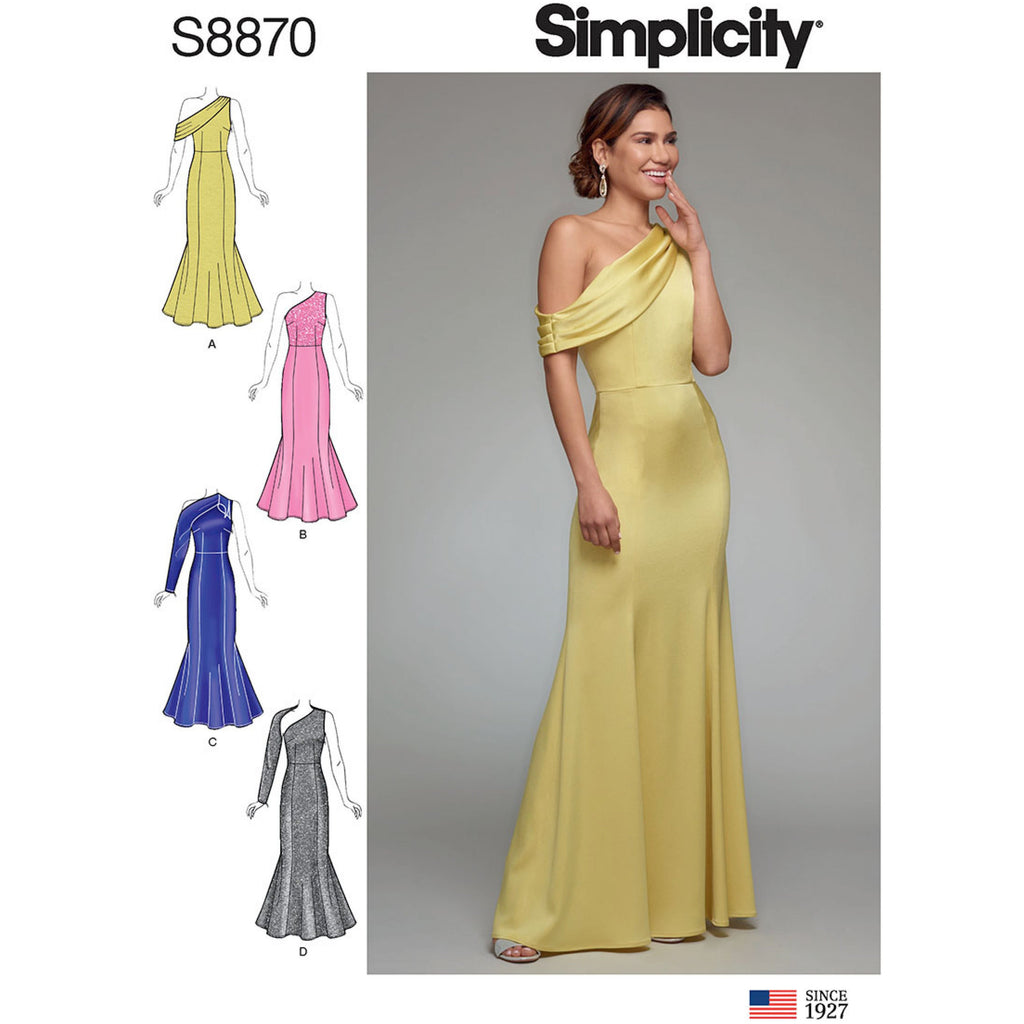 Simplicity 8870 Misses'/Miss Petite Dress