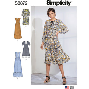 Simplicity 8872 Misses' Pullover Dress from Jaycotts Sewing Supplies