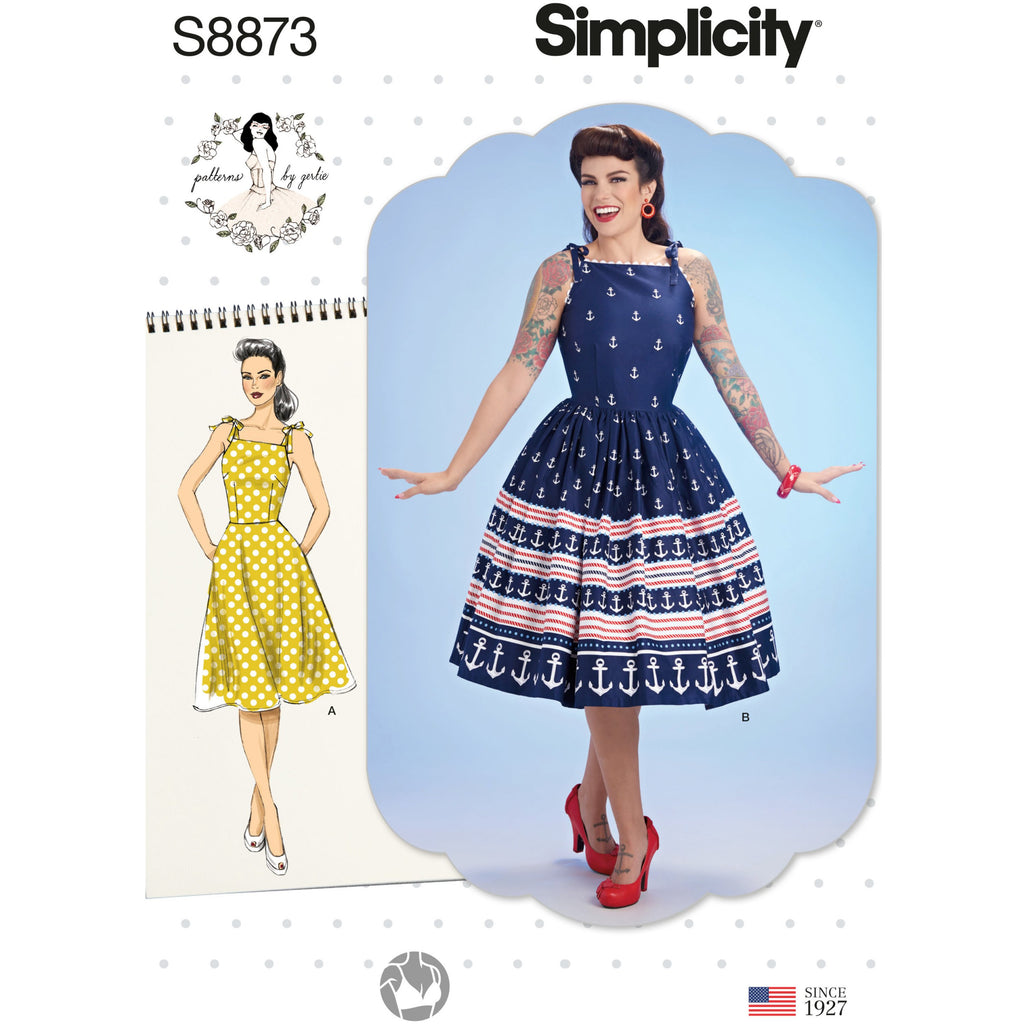 Simplicity 8873 Misses' Gertie Dress