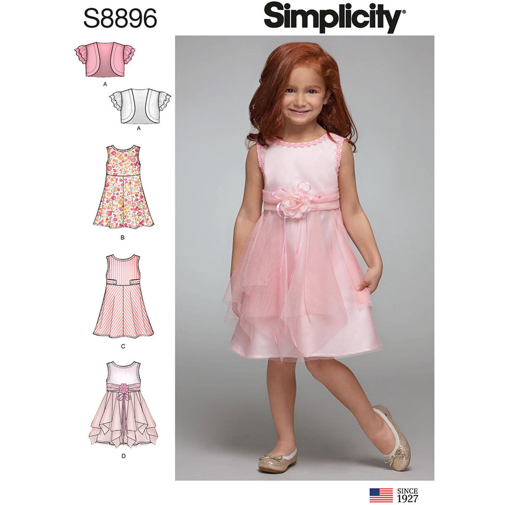 Simplicity 8896 Children's Dress pattern from Jaycotts Sewing Supplies