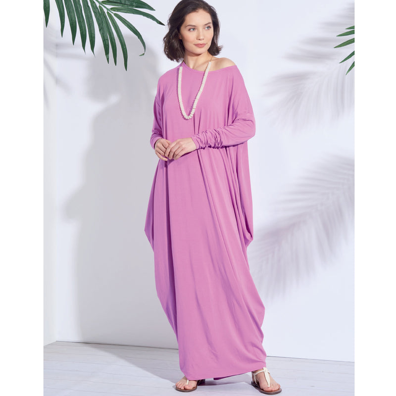 Simplicity Pattern 8911 Misses' loose-fitting caftan-style dresses