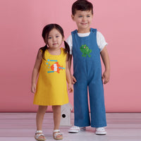 Simplicity Pattern  8934 Toddlers' jumpsuit or pinafores.