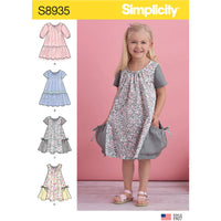 Simplicity Pattern 8935 Toddlers' jumpsuit or pinafores from Jaycotts Sewing Supplies