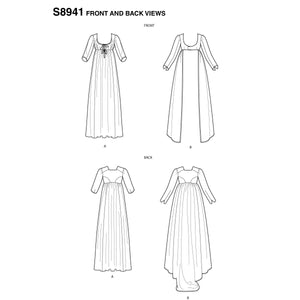 Simplicity Pattern 8941 Misses' costume. High waisted dress