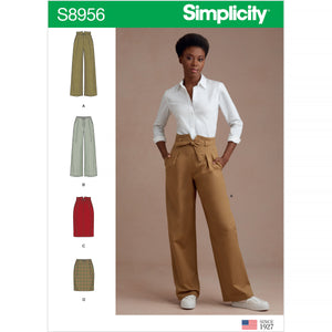 Simplicity Sewing Pattern 8956 Misses' Pants and Skirts from Jaycotts Sewing Supplies