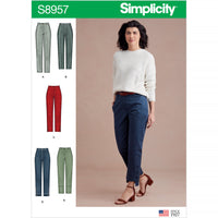 Simplicity Sewing Pattern 8957 Misses' Slim Leg Pant with Variations from Jaycotts Sewing Supplies
