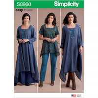 Simplicity 8960 Dress Or Tunic, Skirt and Pants