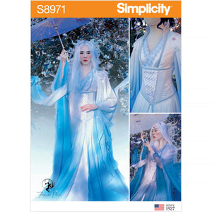 Simplicity 8971 Fantasy Costume Pattern | Ice Queen