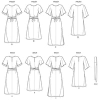 Simplicity Sewing Pattern 8981 Misses' Front Tie Dresses from Jaycotts Sewing Supplies