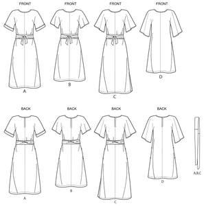 Simplicity Sewing Pattern 8981 Misses' Front Tie Dresses