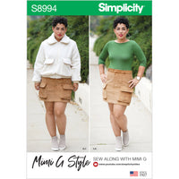 Simplicity Sewing Pattern 8994 Misses' Mimi G Style Jacket, Skirt, and Knit Top from Jaycotts Sewing Supplies