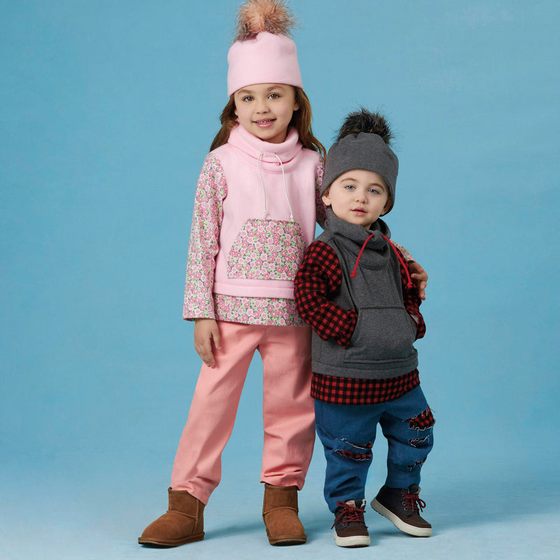 Simplicity 8997 Toddlers' / Children's Pants, Knit Top and Hat