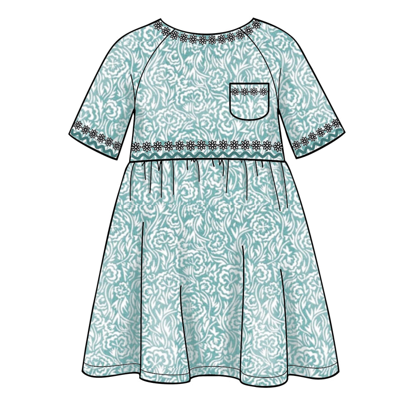 Simplicity 8998 Children's Easy-To-Sew Dress, Top, Pants