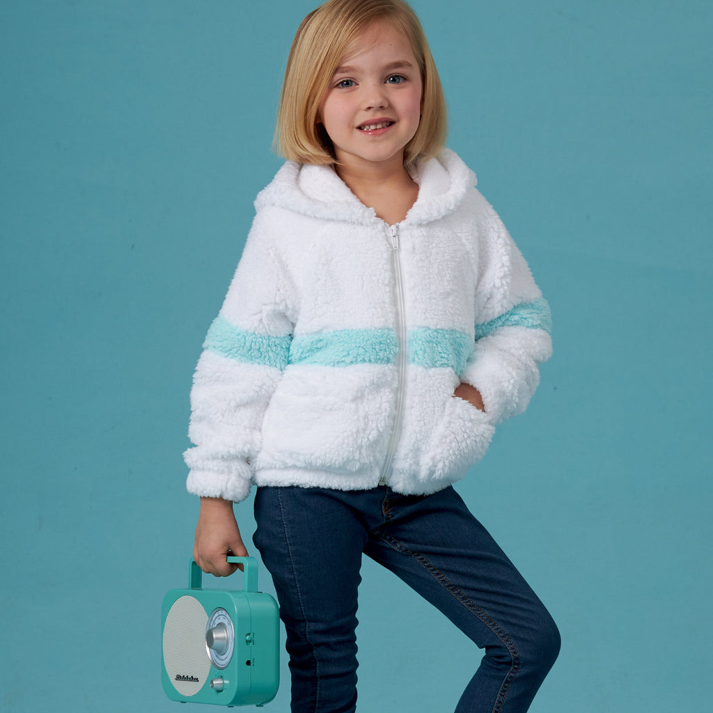 Simplicity Sewing Pattern 8999 Girls' Knit Hooded Jacket
