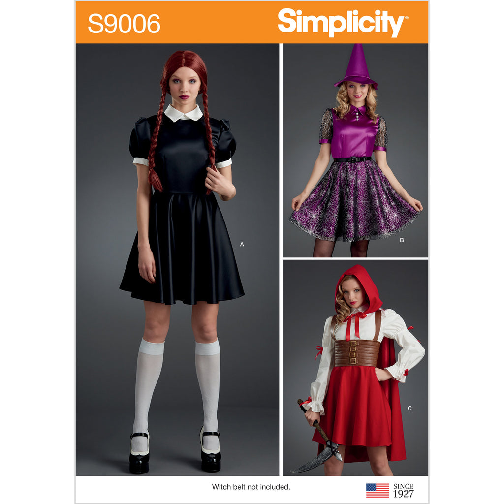 Simplicity 9006 Misses' Halloween Costumes Pattern